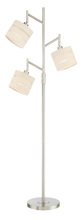 Lite Source Inc. LS-83040 - 3-Lite Floor Lamp, Bn/Linen Shade, E27 Type A 60Wx3