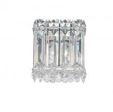 Schonbek 2220A - Quantum 1 Light 110V Wall Sconce in Stainless Steel with Clear Spectra Crystal