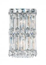 Schonbek 2235A - Quantum 2 Light 110V Wall Sconce in Stainless Steel with Clear Spectra Crystal