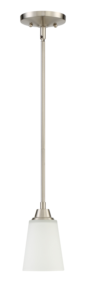 Grace 1 Light Mini Pendant in Brushed Polished Nickel