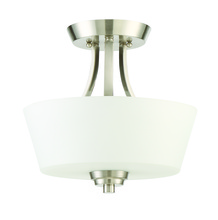 Craftmade 41952-BNK - Grace 2 Light Convertible Semi Flush in Brushed Polished Nickel