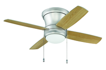 "Craftmade LAVH44BP4 - Laval 44"" Hugger Ceiling Fan with Blades and Light in Brushed Pewter"