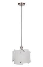 Craftmade P690BNK1 - 1 Light Mini Pendant in Brushed Polished Nickel