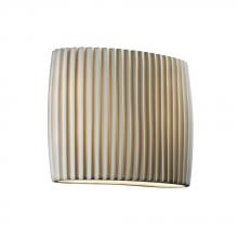 Justice Design Group PNA-8855-PLET - ADA Wide Oval Wall Sconce