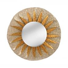 Mirror Masters (Yellow) MM0342-0002 - Minako Rolled Wave Mirror In Antique Silver And Champagne