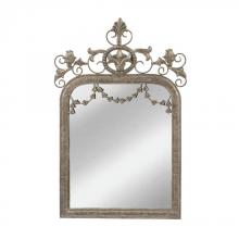 Mirror Masters (Yellow) MM3465-0016 - Latrobe Edward III Style Mirror In Aztec Silver
