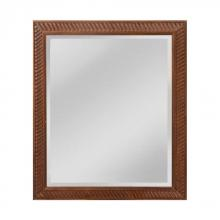 Mirror Masters (Yellow) MW5000A-0046 - Angled Carved Wood Frame Mirror - Small