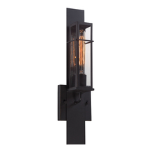Eurofase Online 28053-019 - Muller Panelled Framework Wall Sconce, Clear Glass Shade, Weathered Bronze Metal, 1 Edison Light Bul