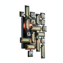 Elegant 2100W12DB/RC - 2100 Picasso Collection Wall Sconce D:8in H:12in E:3.5in Lt:2 Dark Bronze Finish (Royal Cut Crystals
