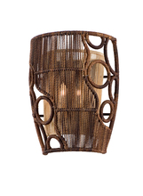 Corbett 129-12 - Two Light Two Tone Naturalwood Wall Light