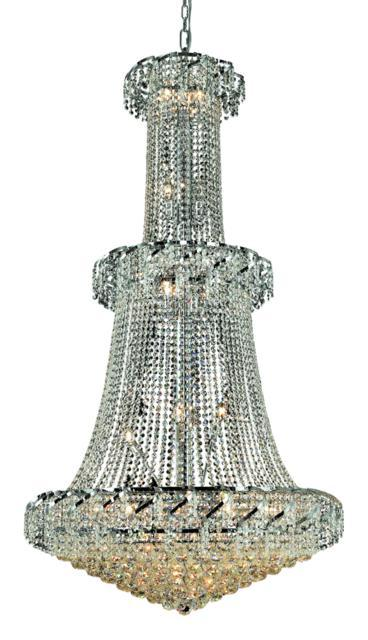 Belenus 32 light Chrome Chandelier Clear Royal Cut Crystal