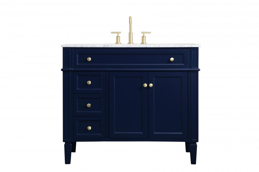 40 Inch Single Bathroom Vanity In Blue Vf12540bl Valley Light Gallery